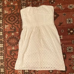American Eagle strapless eyelet dress size S